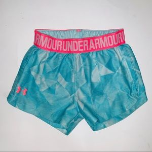 Under armour 2T athletic shorts blue pink girls